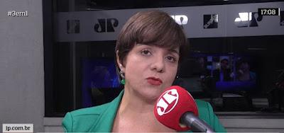Vera Magalhães no programa 3 em 1, da Jovem Pan, desta terça (3); comentarista vai para a TV Cultura