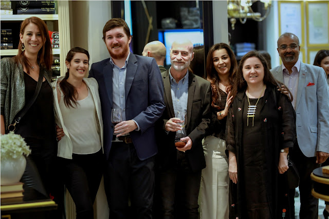 La Martina's Brand Reprentative, Ms. Amy along with representatives from Embassy of Argentina at Fall Winter Collection Launch
