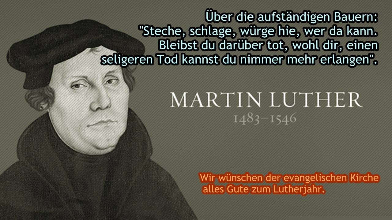 Luther hasst Bauern