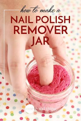 DIY How To Make A Nail Polish Remover Jar
