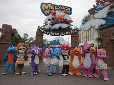 Tempat Menarik di Melaka Melaka Wonderland Water Theme Park A Famosa