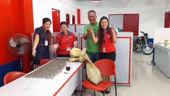 Man Saves 10-Peso Coins for 2 years