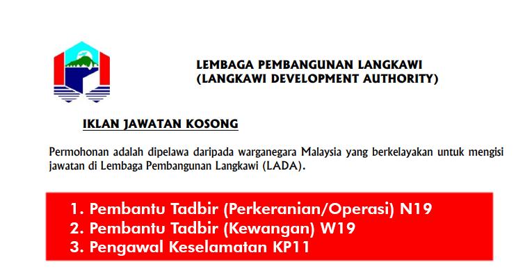 Jawatan Kosong di Lembaga Pembangunan Langkawi LADA
