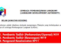 Jawatan Kosong di Lembaga Pembangunan Langkawi LADA - Kerani / Pembantu Tadbir dan Pembantu Keselamatan