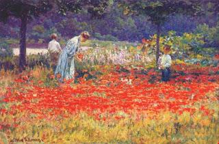 Джон Оттис Адамс  John Ottis Adams;  — Poppy Garden  Маковый сад