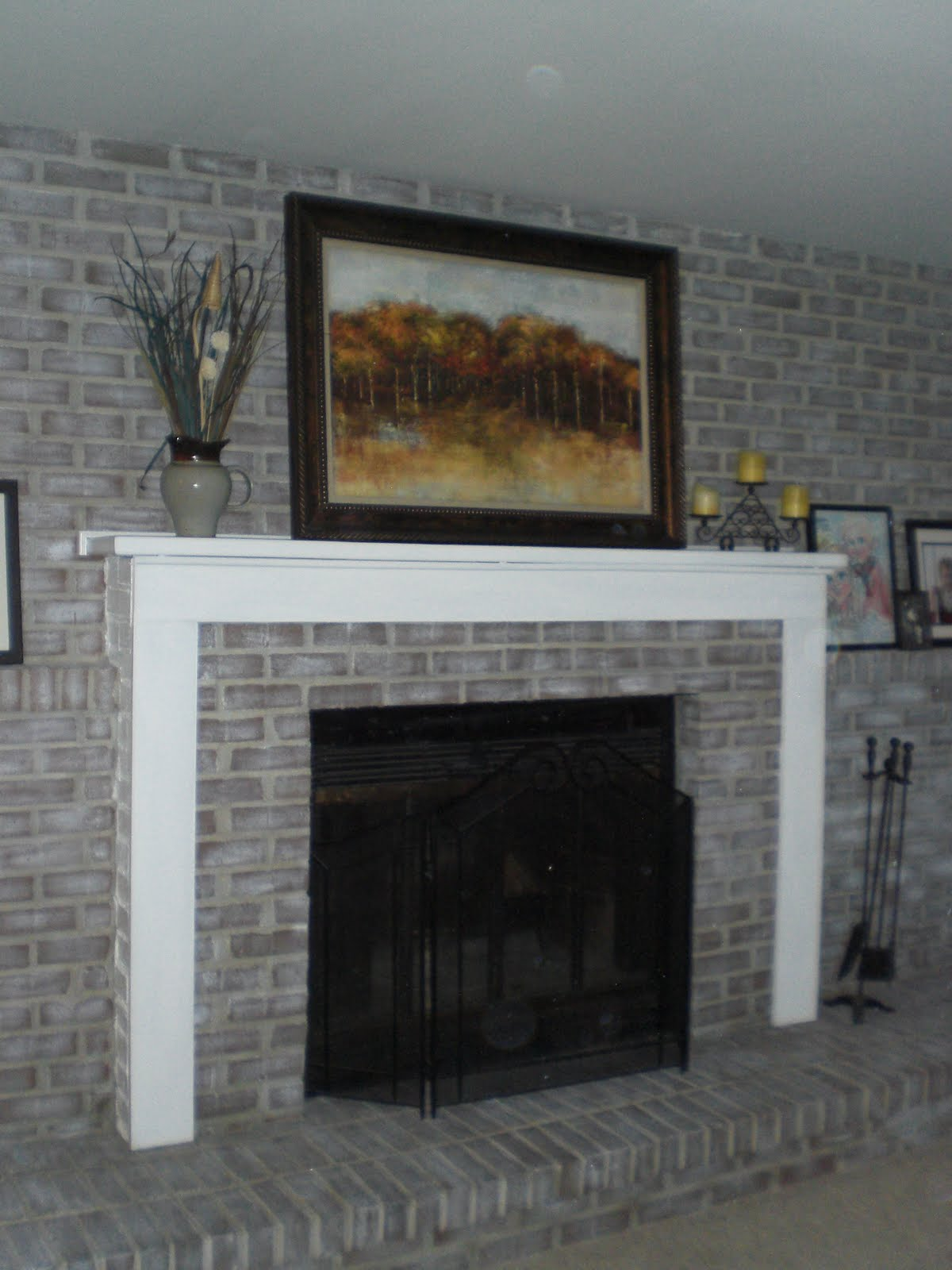 DIY Decor: Brick fireplace makeover