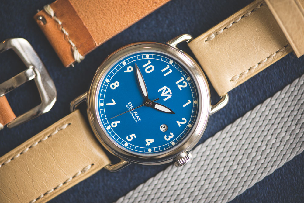 McDowell Time DelRay Blue and Clockwork Synergy Straps