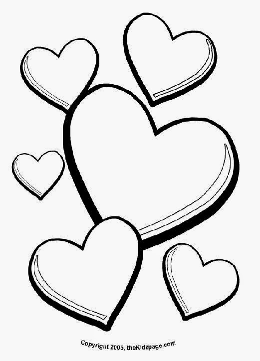 Valentine Heart Printable Coloring Pages | Coloring Page
