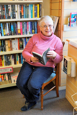 Councillor Penny Smith - long-serving volunteer at the Oxfam Book Shop in Brigg - February 2019