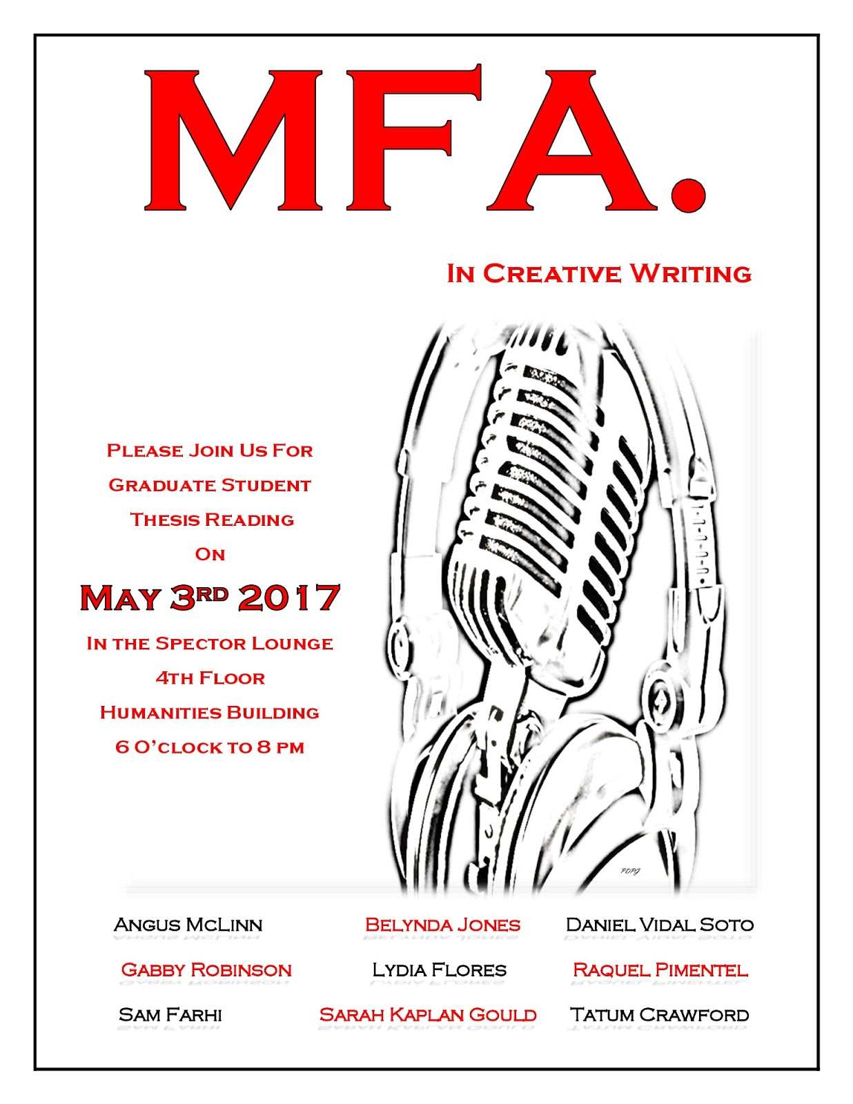 mfa creative writing requirements Creative writing | mfa apply now application requirements learn more about this program application deadline for summer ii 2018: may 1, 2018 new england college's master of fine arts in creative writing program is a truly transformative learning experience for writers.