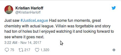 Лига Справедливости: первые реакции не плохи