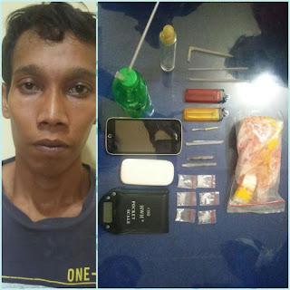 Usai Pesta Narkoba, Edi Diamankan Kepolisian