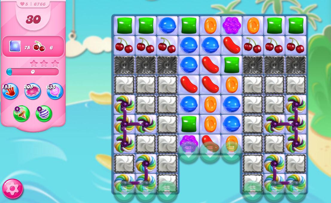 Candy Crush Saga level 6766