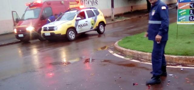 Roncador: Mais um acidente de moto na Avenida São Pedro