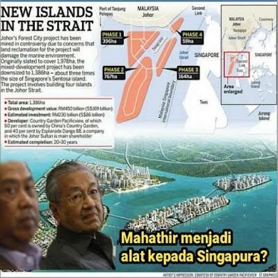 FOREST CITY: MAHATHIR DITIPU OLEH BLOOMBERG DAN TIDAK SEDAR DIPERGUNAKAN OLEH SINGAPURA