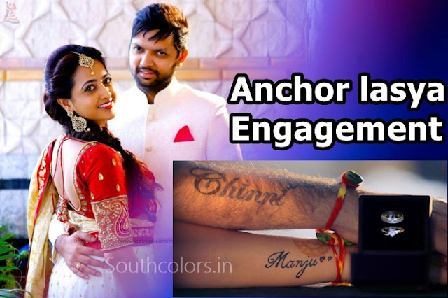 Anchor lasya Engagement photos