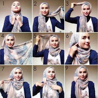 Cara Memakai Hijab Segi Empat Simple Dan Mudah. Kreasi Jilbab Modern Zaskia  Sungkar