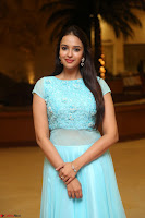 Pujita Ponnada in transparent sky blue dress at Darshakudu pre release ~  Exclusive Celebrities Galleries 017.JPG