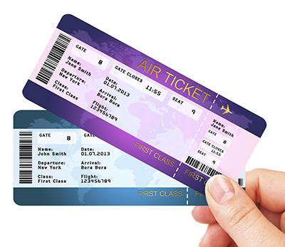International flight tickets