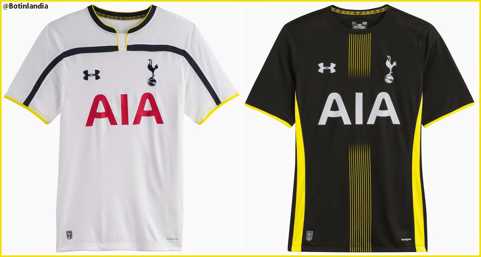 Nuevas Camisetas Del Tottenham 2014-15.