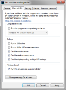 Cara Mengatasi Error Update Point Blank i3frameworkdx.dll Change Compability Windows