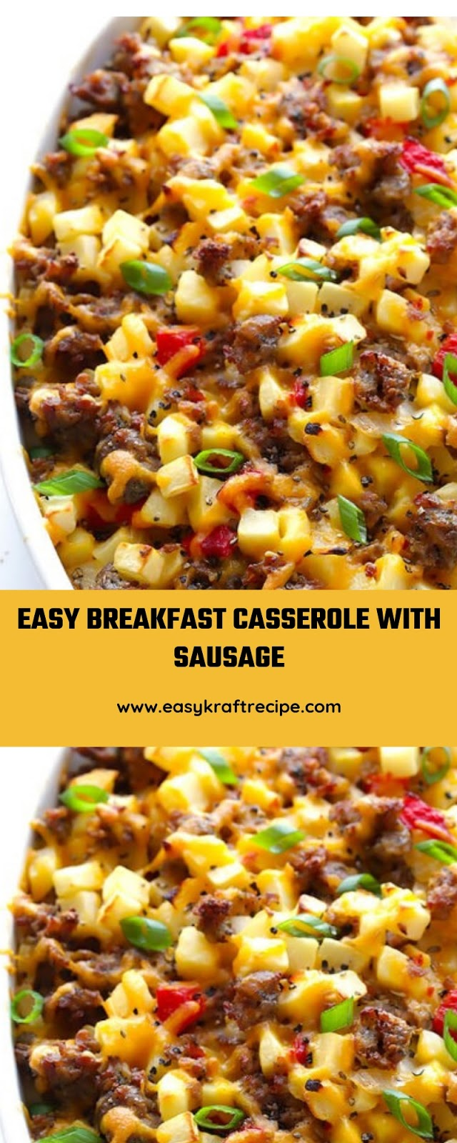 EASY BREAKFAST CASSEROLE WITH SAUSAGE