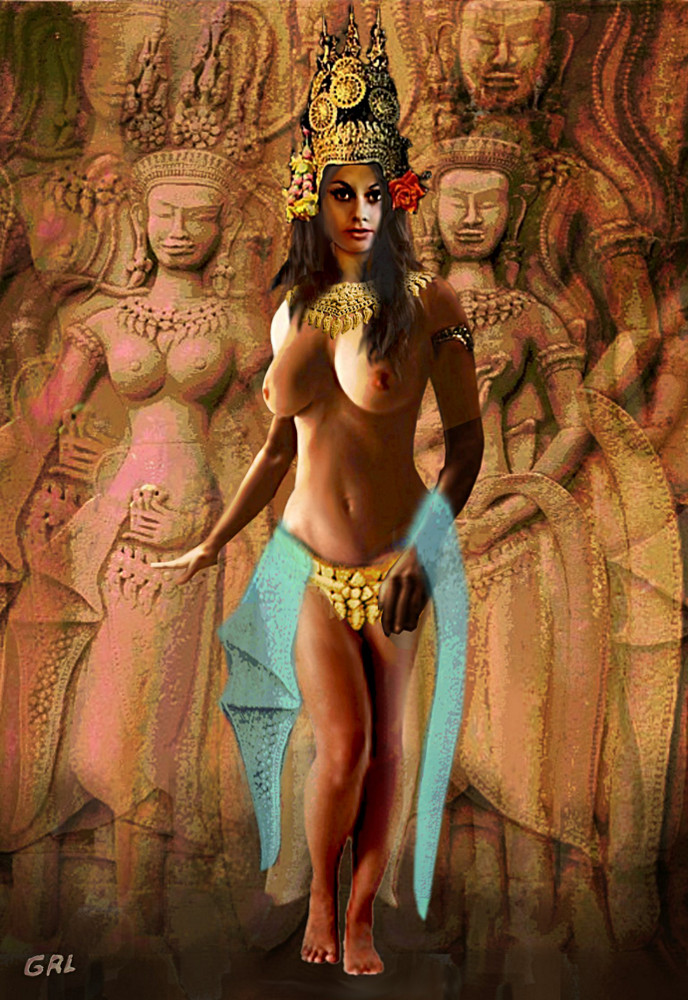 ASPARA DANCING ORIGINAL Fine ART FEMALE NUDE ... Tanya as an Apsara, a kind of heavenly dancing girl, ...beautiful, supernatural female beings. They are youthful and elegant, and superb in the art...