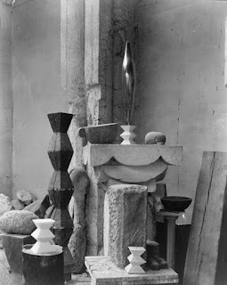 Edward Steichen[Public domain],  via Wikimedia Commons (1879-1973) Brancusi's Studio,  found at Met Museum, NY