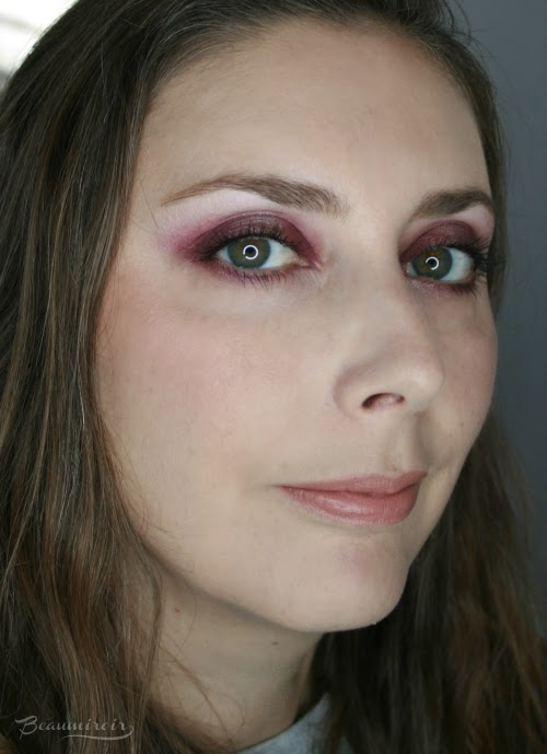 full face fotd pink halo eye look