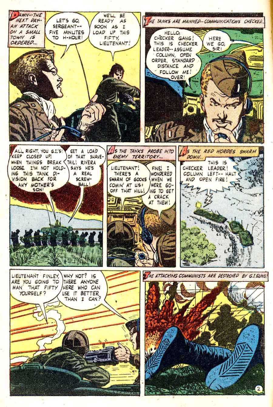Battlefront v1 #5 golden age war standard comic book page art by Alex Toth