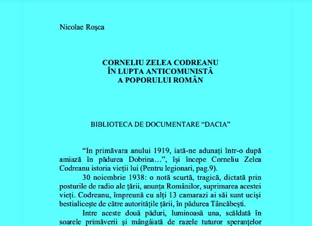 Nicolae Roșca - Corneliu Zelea Codreanu