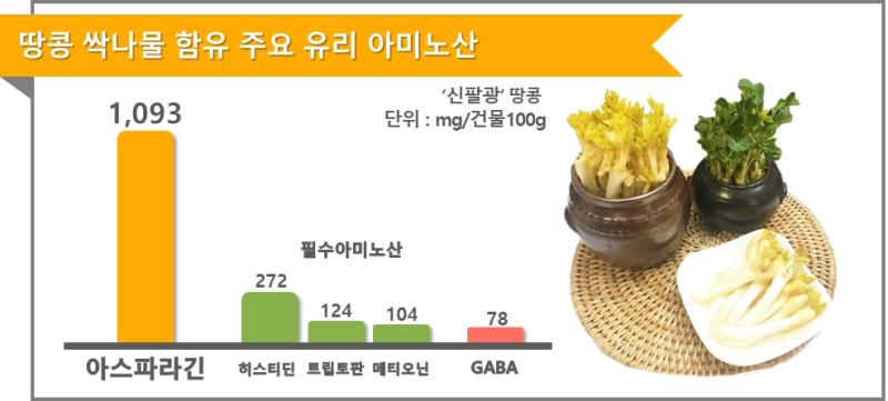 땅콩 싹나물, 숙취 해소에 좋은 아스파라긴이 가득