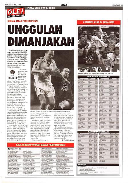 UNDIAN BABAK PRAKUALIFIKASI PIALA UEFA 1999