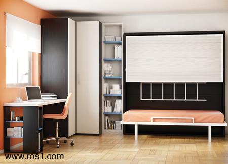 Muebles ros literas y camas abatibles for Literas para cuartos pequenos