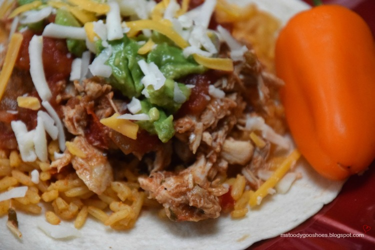 SLOW COOKER CHICKEN TACOS | Ms. Toody Goo Shoes