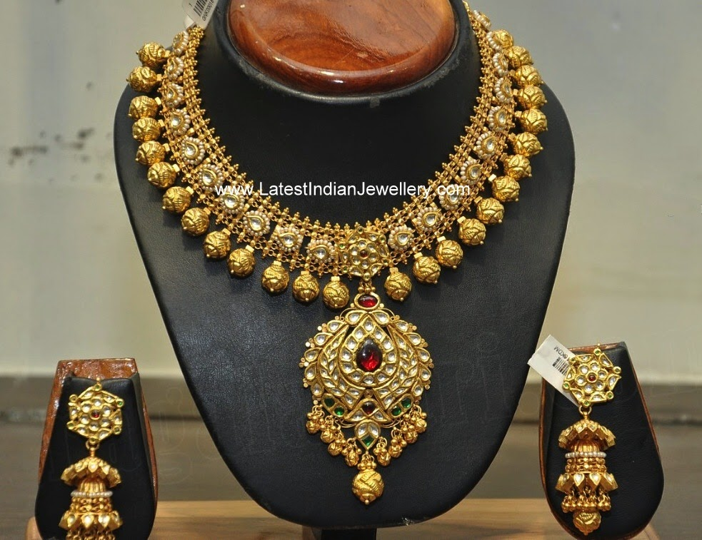 Hiya Jewellers Heavy Bridal Gold Necklace Latest Indian