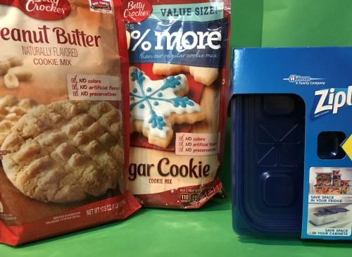 Baking cookies with Betty Crocker mixes