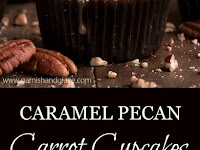 The BEST Caramel Pecan Carrot Cupcakes