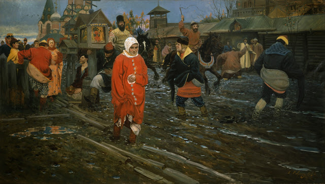 http://upload.wikimedia.org/wikipedia/commons/4/47/Andrei_Ryabushkin_-_Seventeenth-Century_Moscow_Street_on_a_Public_Holiday_-_Google_Art_Project.jpg