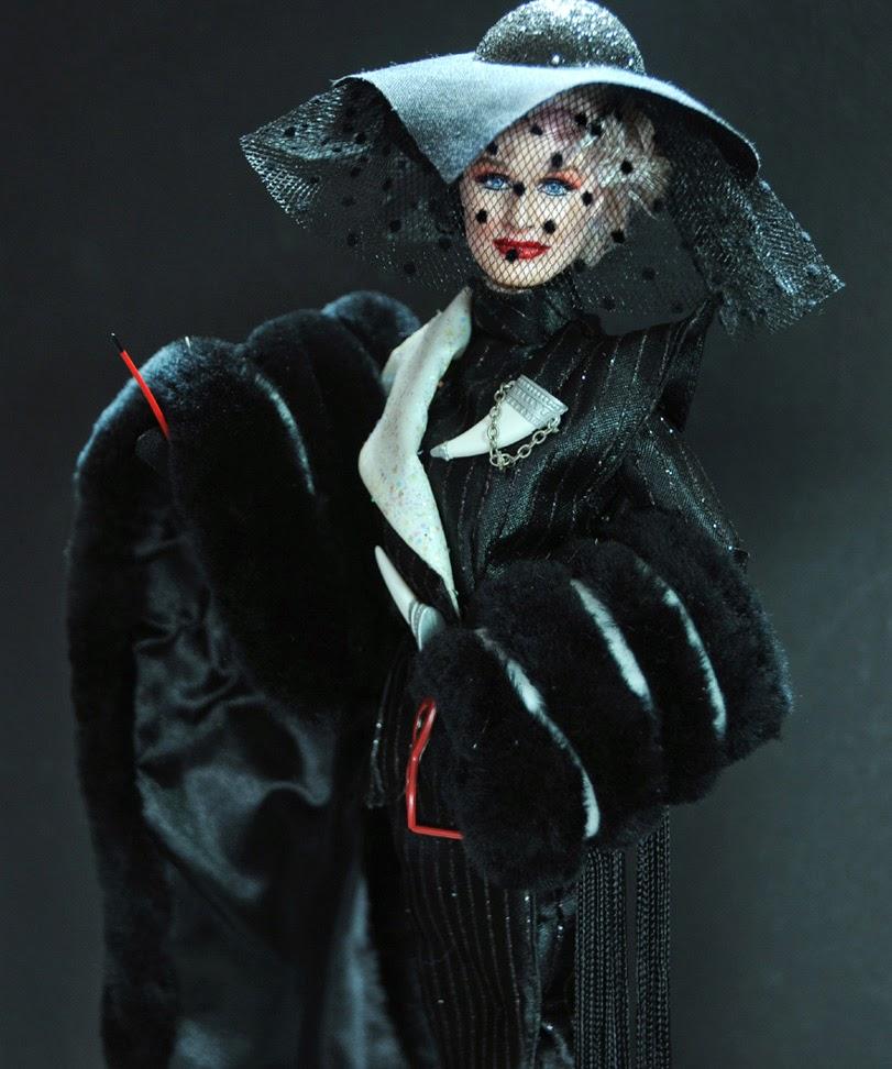 Glenn Close As Cruella De Vil Repainted And Restyled By Artist Noel Cruz