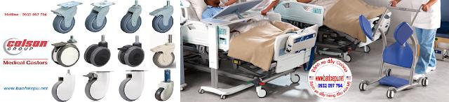 Bánh xe đẩy cao su y tế có khóa chịu lực 70kg | STO-3856-448BRK4