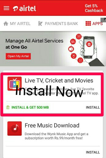 Airtel Free Data Trick,Get Free Airtel Data Unlimited time,Get Free Data with airtel Tv app