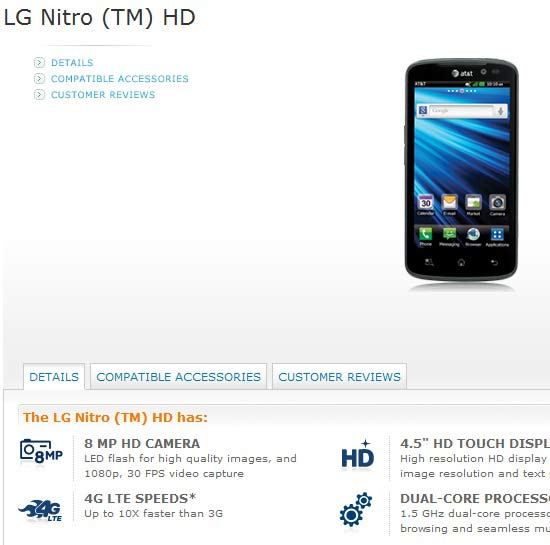 Best lg nitro hd at&t deal and prices