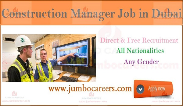 Vacancies for Civil Engineer Construction Managers in Dubai
