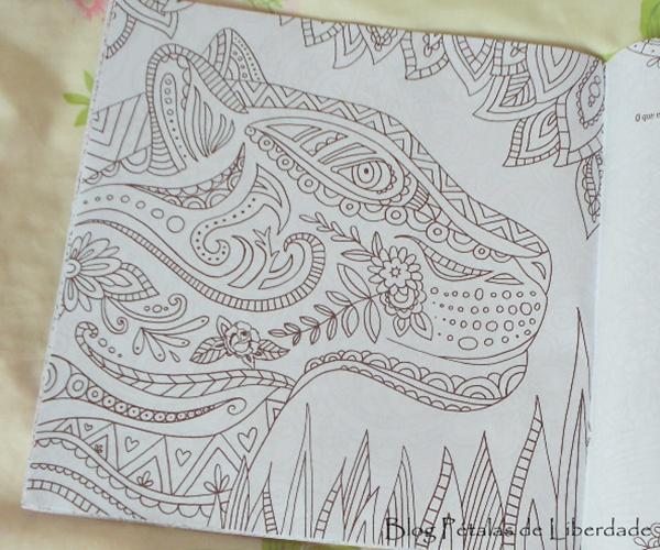 onça, livro-de-colorir, foto, Floresta Mágica