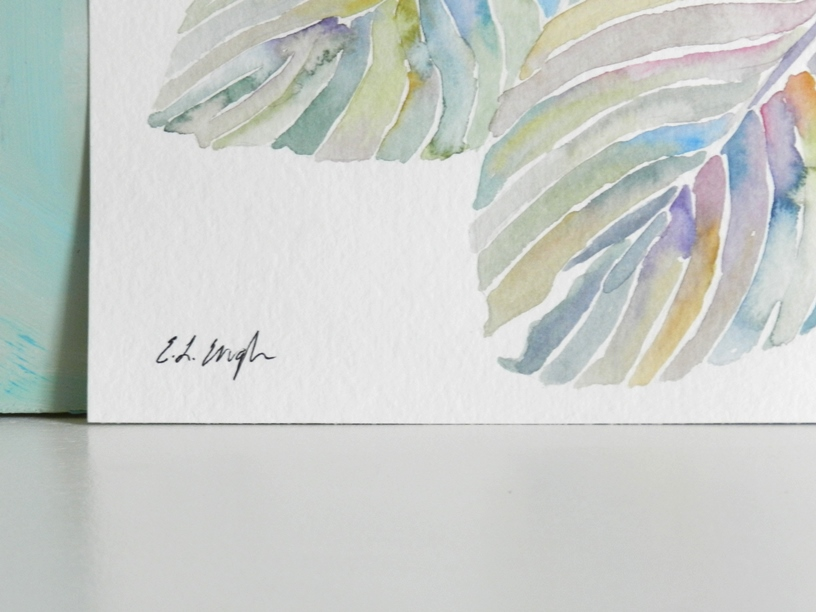 Tropical Leaves Original Watercolor Painting by Elise Engh: Grow Creative