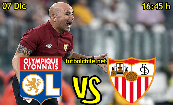 Ver stream hd youtube facebook movil android ios iphone table ipad windows mac linux resultado en vivo, online: Olympique Lyonnais vs Sevilla