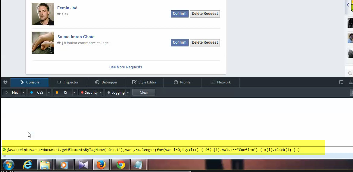 How to Confirm Accept All Facebook Friend Request at Once