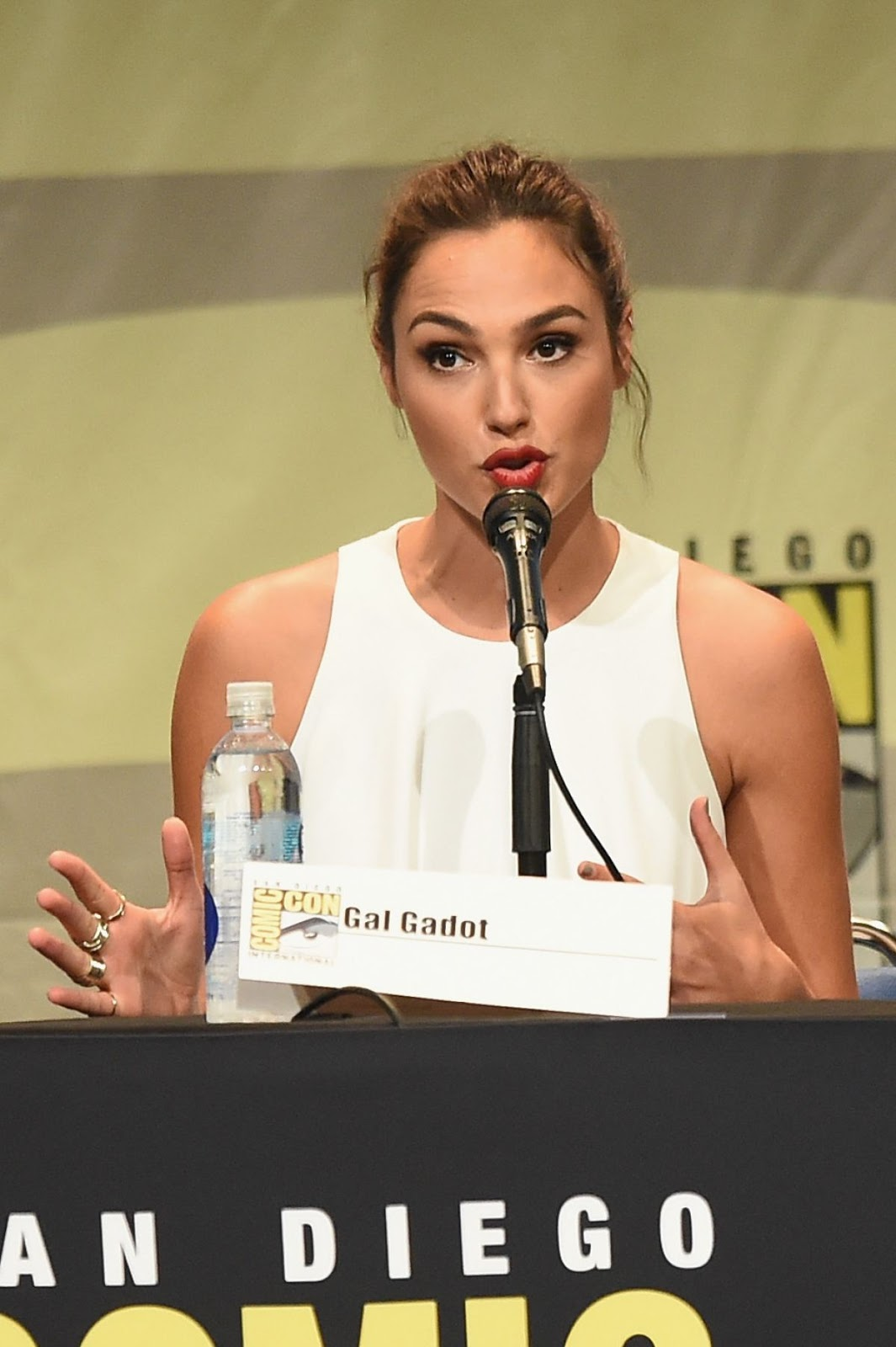 Gal Gadot At Warner Bros Panel At Comic Con In San Diego