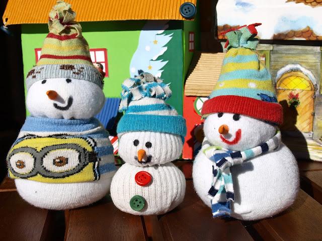 Χιονάνθρωποι-από-κάλτσες!